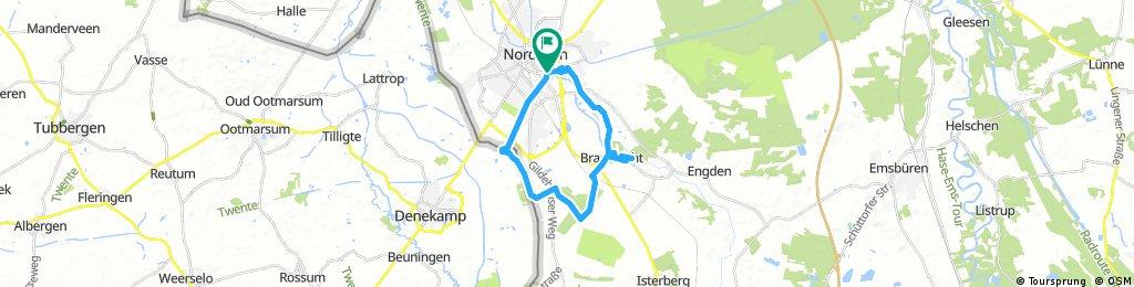 Kleine Tour Nordhorn mit Tierpark, ca. 21 km
