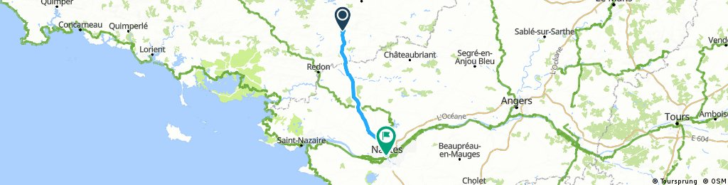Loheac to Nantes