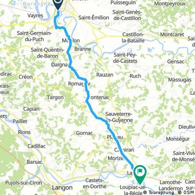Libourne to Fontet