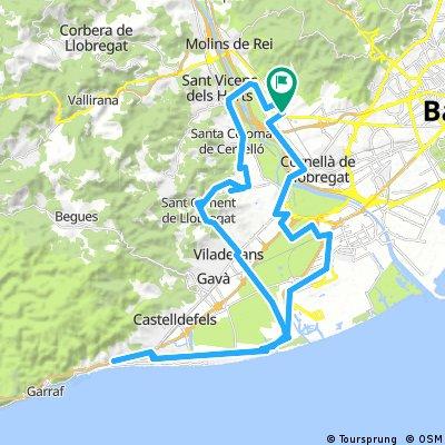 Sant Feliu -Castelldefels-Sant Climent-Sant Feliu