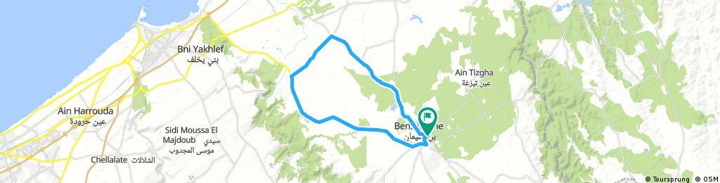 benslimane - bennabete - Route de l'aéroport de Benslimane