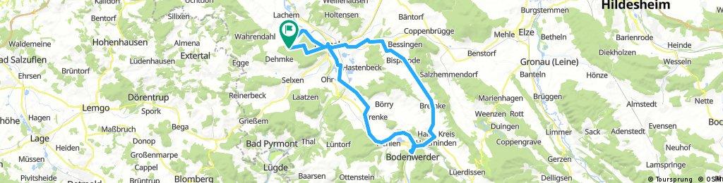 Klüt-Weserradweg-Bodenwerder- Weserbergland
