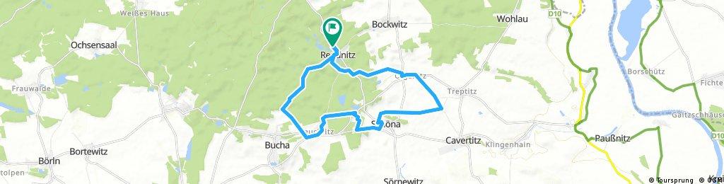 Rundwanderweg Reudnitz - Zeuckritz - Schöna - Olganitz - Reudnitz