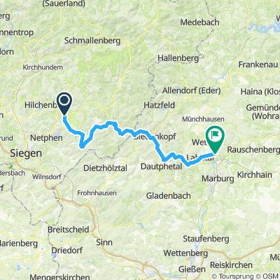 Lahntal Radweg - Tag1