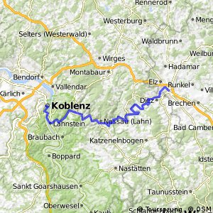 Cycling routes and bike maps in and around Limburg an der Lahn