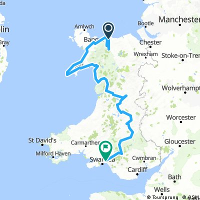 north wales to south