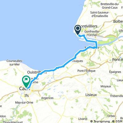 LE HAVRE - CAEN 83km 5h30