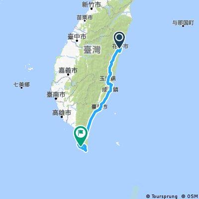 Biking Taiwan five days trip plan - Hualien, Taitung, Pingtung