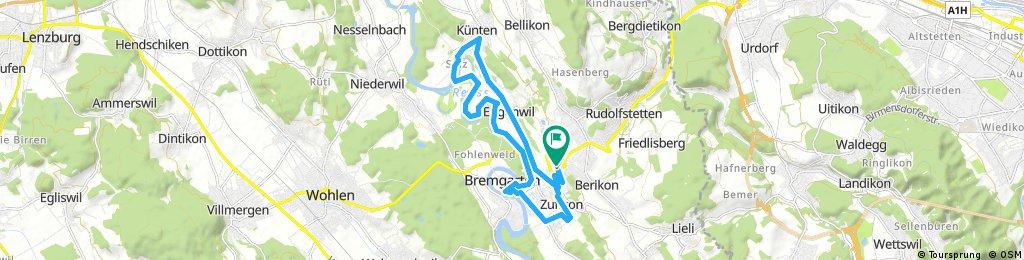 Reuss river trail and Bremgarten