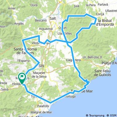 Hostalric - Tossa - Girona - Brunyola