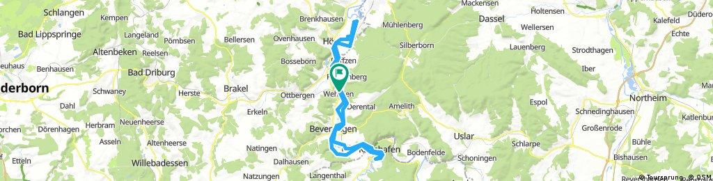 Entlang der Weser zwischen Höxter und Bad Karlshafen