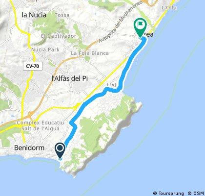 Benidorm (einde Av del Mediterraneo) - Altea