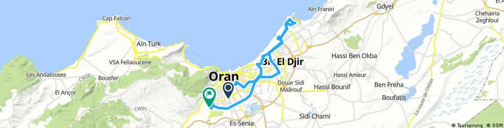 Lengthy ride through Oran