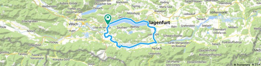 Velden - Drauradweg - Ferlach - Klagenfurt - Velden