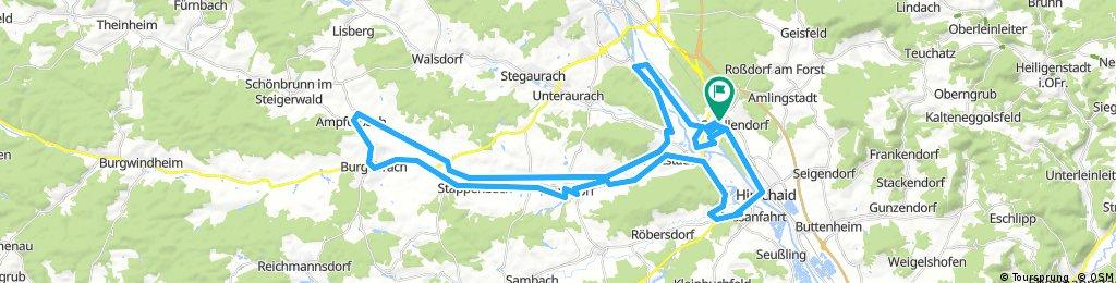 Von Strullendorf nach Burgebrach und zurück