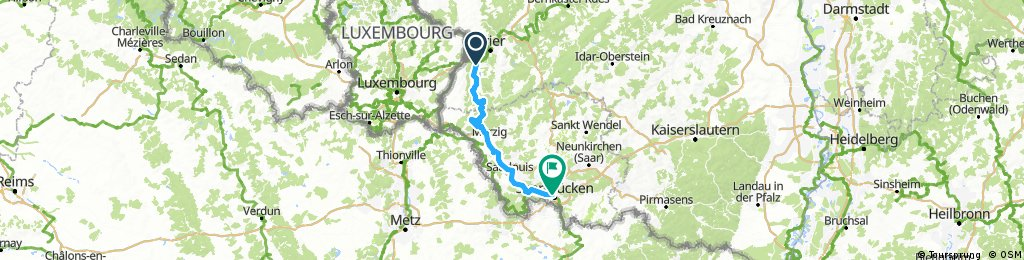 D 025: Konz - Saarbrücken