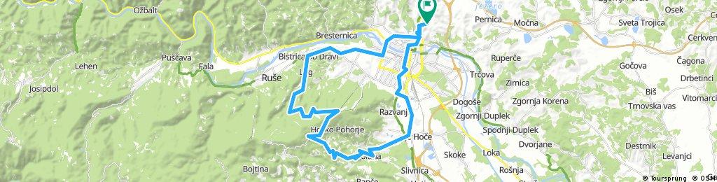 Košaški dol - Limbuš - Pečke - Bellevue - Hoče - Maribor