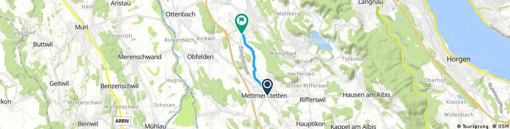 Zuhause bis Affoltern am Albis (Migroltankstelle/Opel Garage)