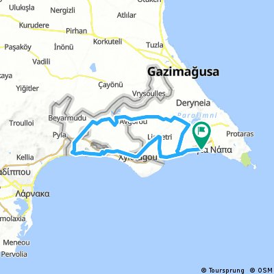 Sandy Bay 72 km
