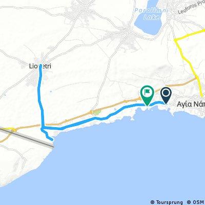 25 km - Sandy Bay to Liopetri