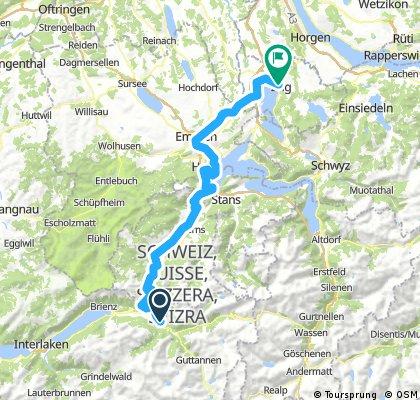 CH 004: Meiringen - Zug (Veloroute 9)