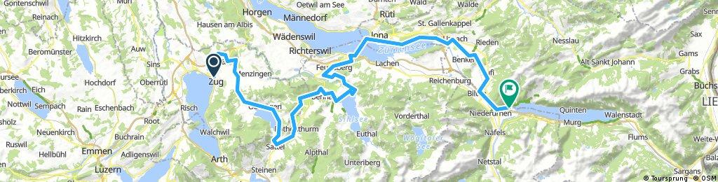 CH 005: Zug - Weesen/Walensee (Veloroute 9)