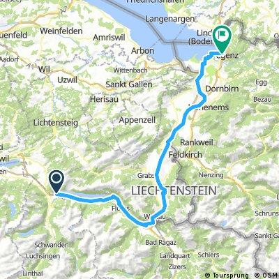 CH 006: Weesen/Walensee - Bregenz (Veloroute 9 + Vaduz)