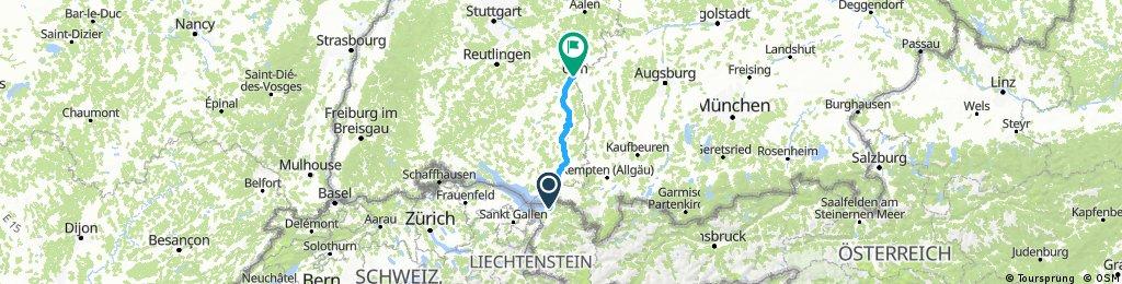 D 030: Bregenz - Laupheim - Ulm