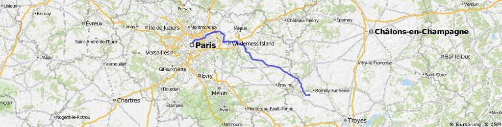 FR3P 3 Montag: Romily-sur-Seine - PARIS