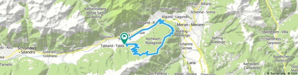 E-Bike rund um Aschbach bei Naturns
