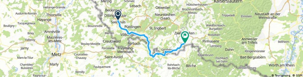 9. Saarlouis - Sarreguemines - Hornbach