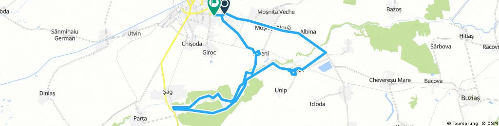 ride through Timișoara