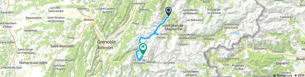 Option Day 3 ride from hotel to Alpe d'huez and drive back to hotel