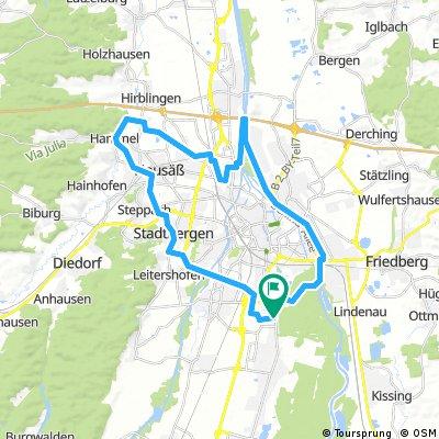 E-Bike Augsburg Runde