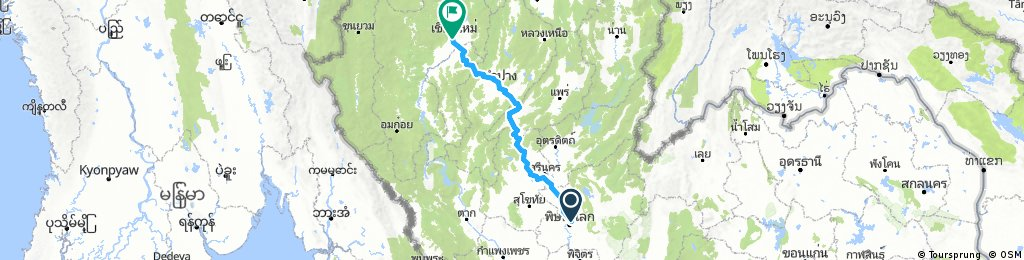 Phitsanulok to Chiang Mai in 4 days