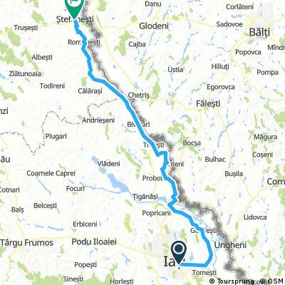 ziua 1 - iasi-stefanesti 110km 250m
