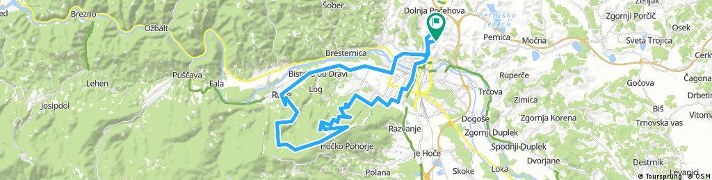 Košaki - Ruše - Martnica na Pohorju - Glažuta - Bellevue - Sp. postaja Vzpenjače - Košaški dol