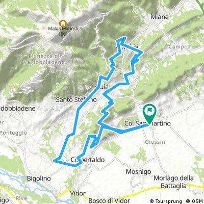 Le colline del prosecco da Col San Martino