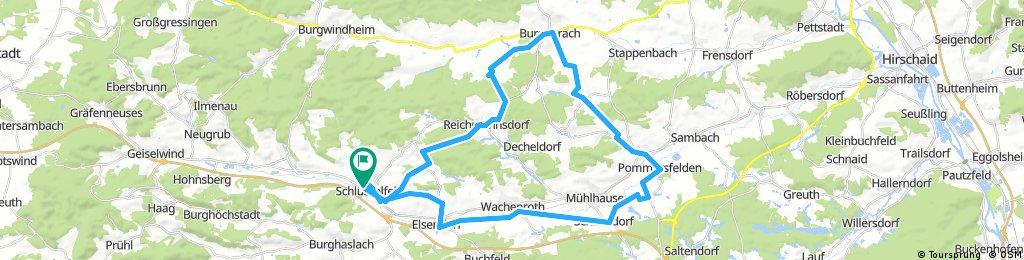 Von Schlüsselfeld über Burgebrach nach Pommersfelden und zurück