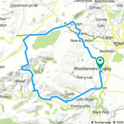 Llangollen, Horseshoe pass, Bwlchgwyn, Travellersr