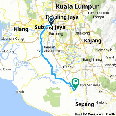 Subang to KLIA Route