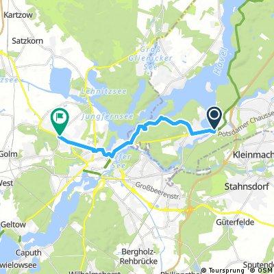 Fähre Potsdam - Hotel 14km