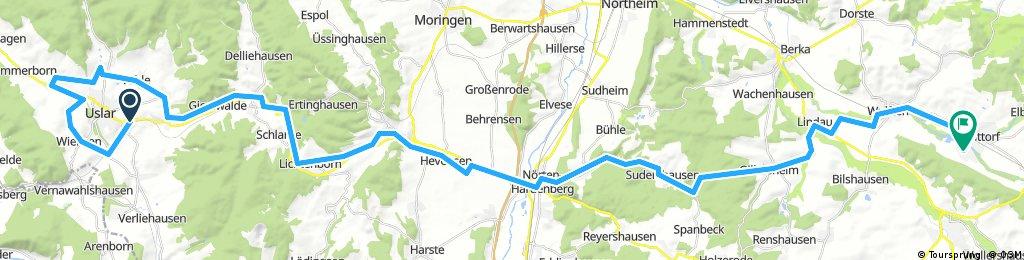 Solling per Bahn + Rad zurück nach Hattorf