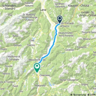 3. nap, Bolzano - Trento