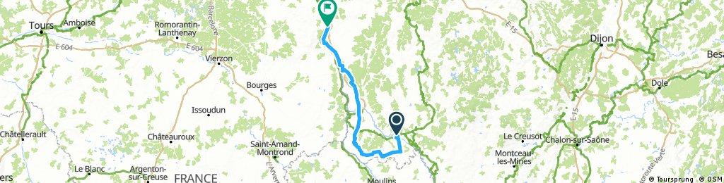 Tour de Bourgogne - Etape 3 de Decize à Cosne sur Loire - 135km 800D+