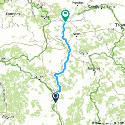 Tour de Bourgogne - Etape 4 de Cosne sur Loire à Villeneuve la Guyard - 139km 530D+