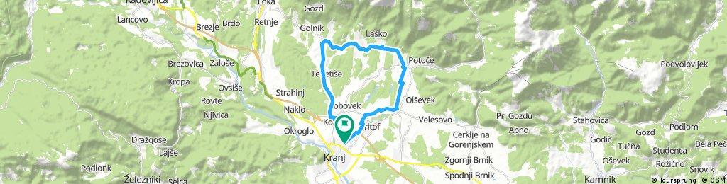 Kolesarske povezave pod Storžičem POT10