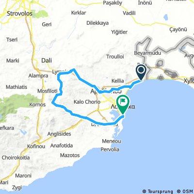 RoadbikeCyTour Lordos-Lympia-Pyrga-Makenzy Beach