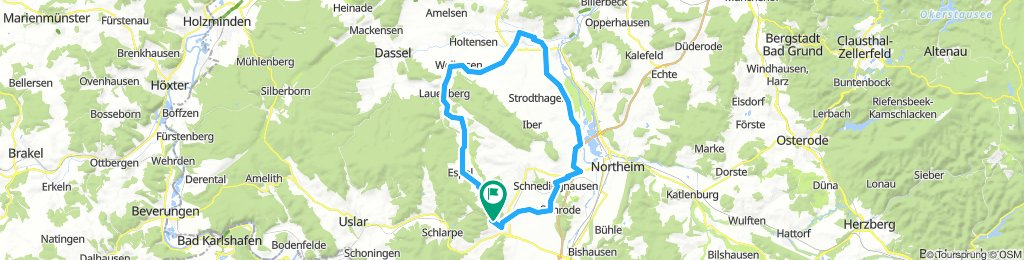 Rundkurs 01 ab Bhf Hardegsen: Fredelsloh + Einbeck