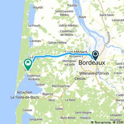 Bordeaux to Lege-cap-ferret
